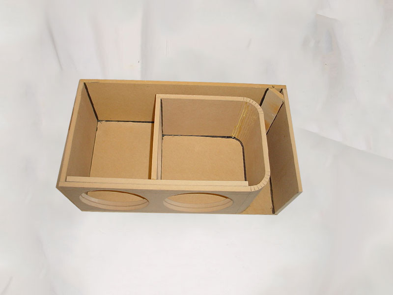 Horn Ported Mega Bass 2-12'' Subwoofer box Sub Box | Rhino
